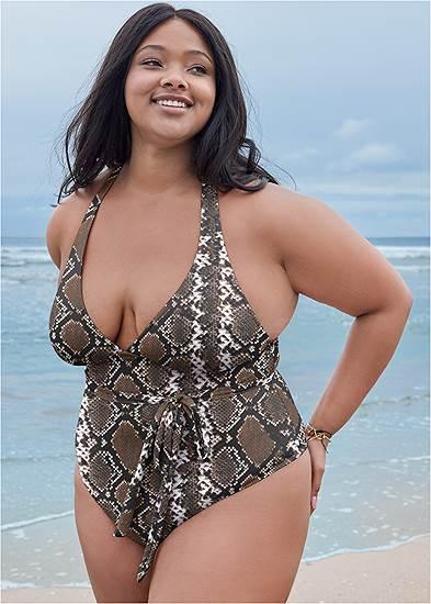 Plus Size Sports Illustrated Swim™ Rio Wrap One-Piece