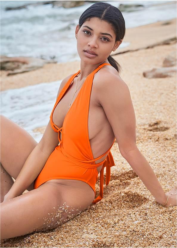 Sports Illustrated Swim™ Brazilian Wrap One-Piece