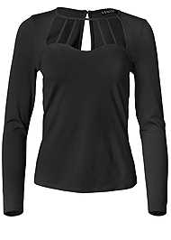 Alternate View Long Sleeve Strappy Top