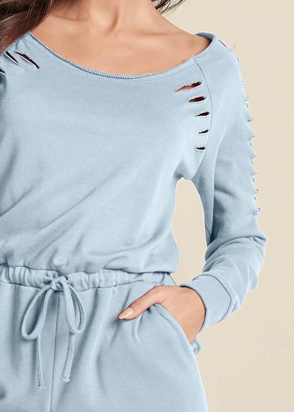 Detail front view Slash Sleeve Jumpsuit