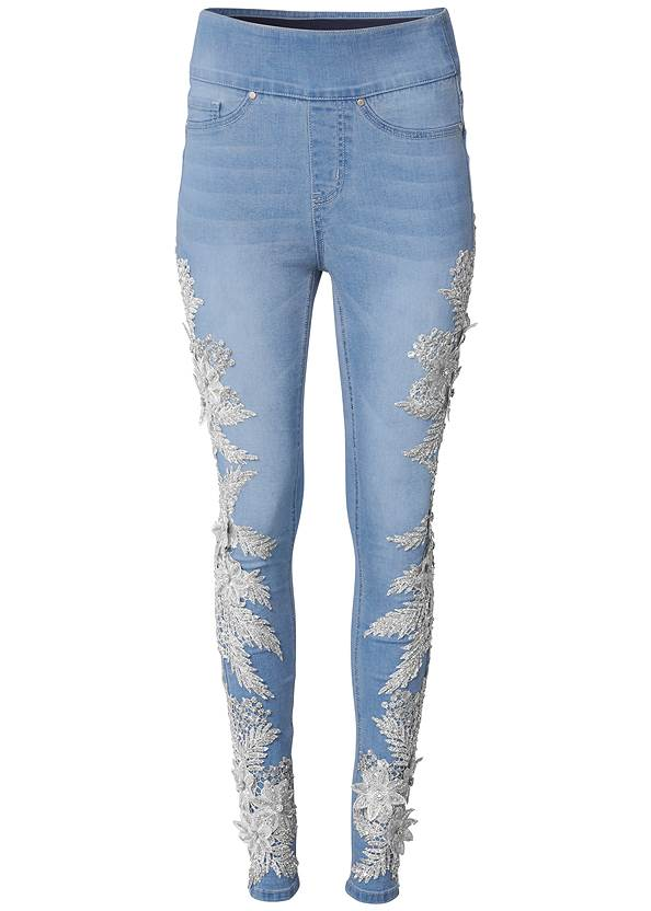 Ghost with background  view Floral Embellished Jeggings