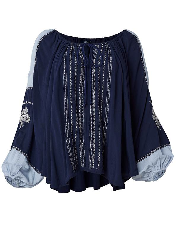 Ghost with background  view Embroidered Peasant Top