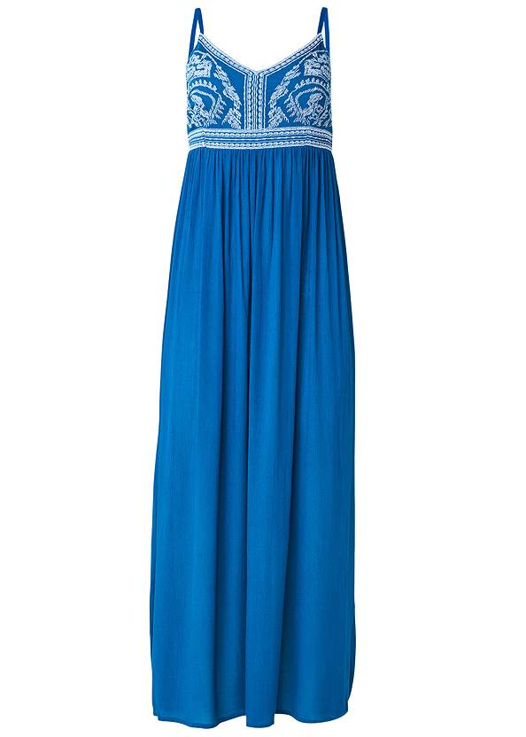 Ghost with background  view Embroidered Cover-Up Dress