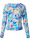 Ghost with background  view Relaxed Fit Rash Guard
