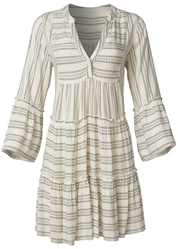 Ghost with background  view Ruffle Cover-Up Dress