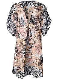 Alternate View Front Tie Kimono Cover-Up