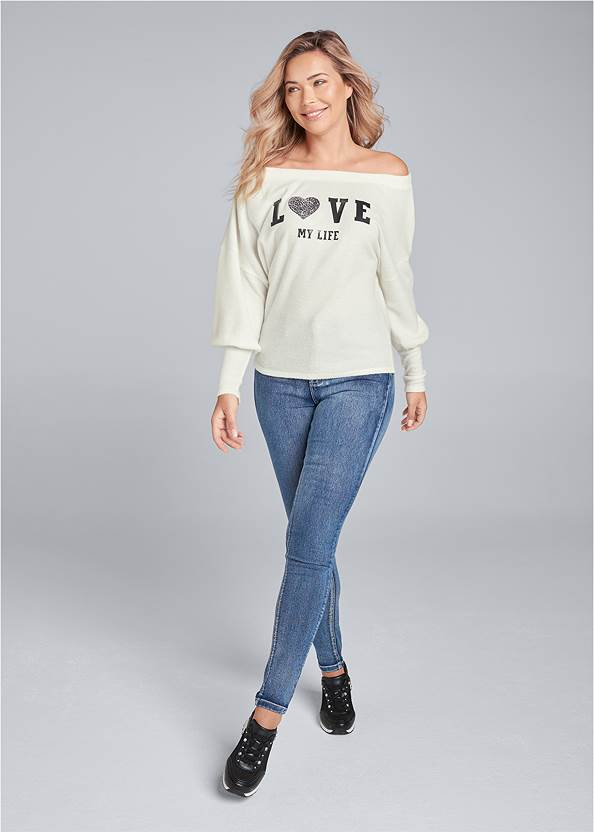 Full front view Cozy Love My Life Top