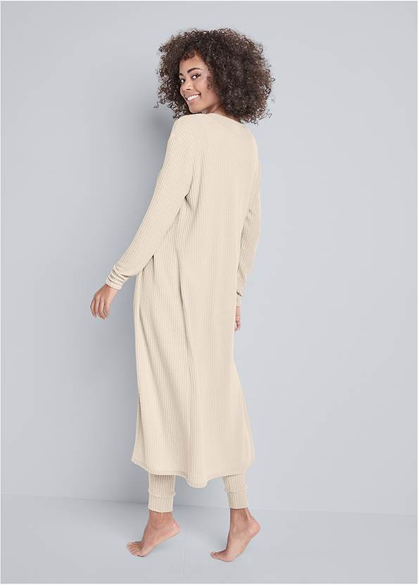 Full back view Cozy Waffle 3-Piece Set