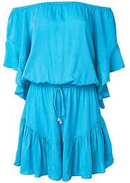 Ghost with background  view Flirty Romper Cover-Up