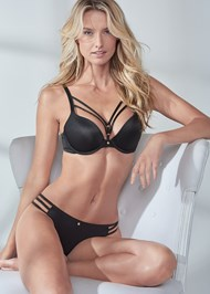 Cropped front view Pearl™ By Venus Strappy Push Up Bra