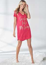 Full front view Graphic Sleep Dress