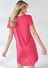 Full back view Graphic Sleep Dress