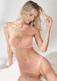 Cropped front view Pearl™ By Venus Strapless Bra