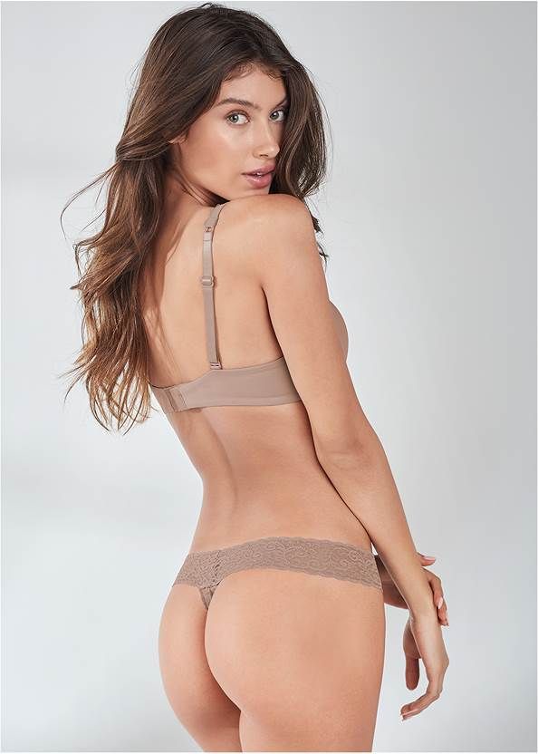 Back View Pearl™ By Venus All Over Lace Thong 3 Pack