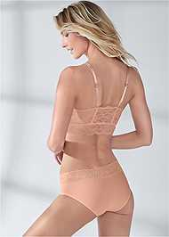 Cropped back view Pearl™ By Venus Lace Trim Hipster 3 Pack