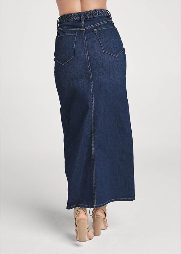 Alternate View Jean Front Slit Maxi Skirt