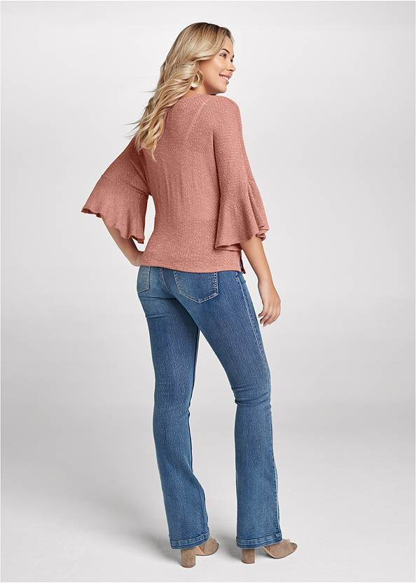 Full back view Hacci Wrap Top