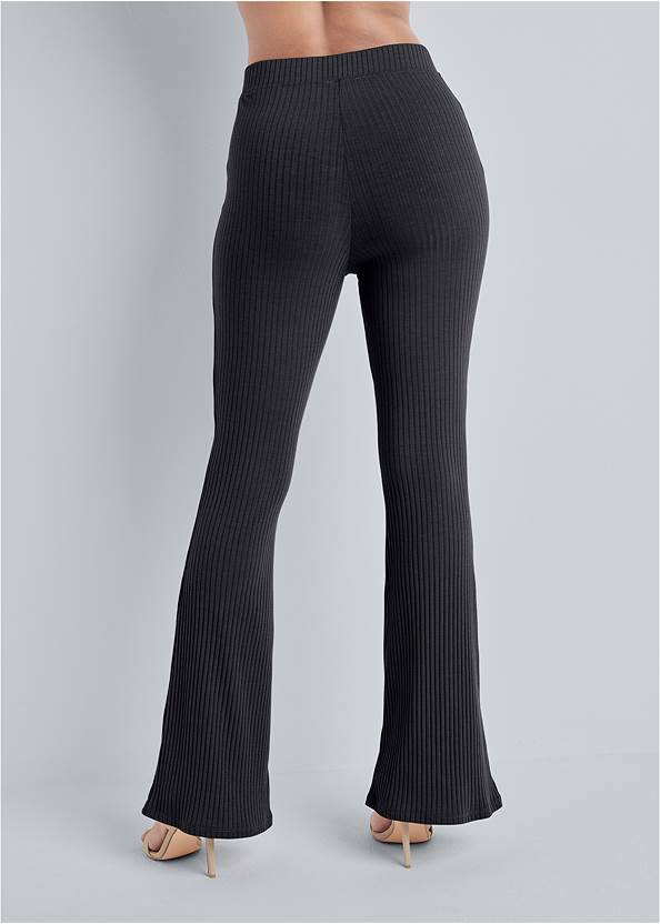 Waist down back view Rib Knit Bootcut Pants