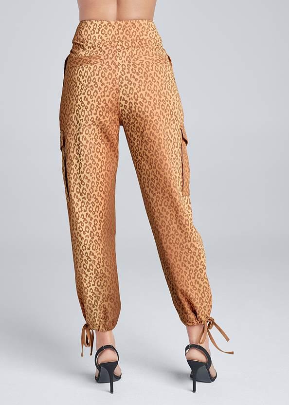 Waist down back view Leopard Print Cargo Pants
