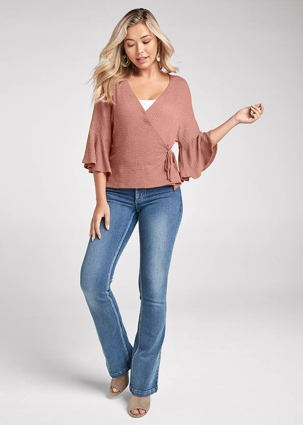 Full front view Hacci Wrap Top