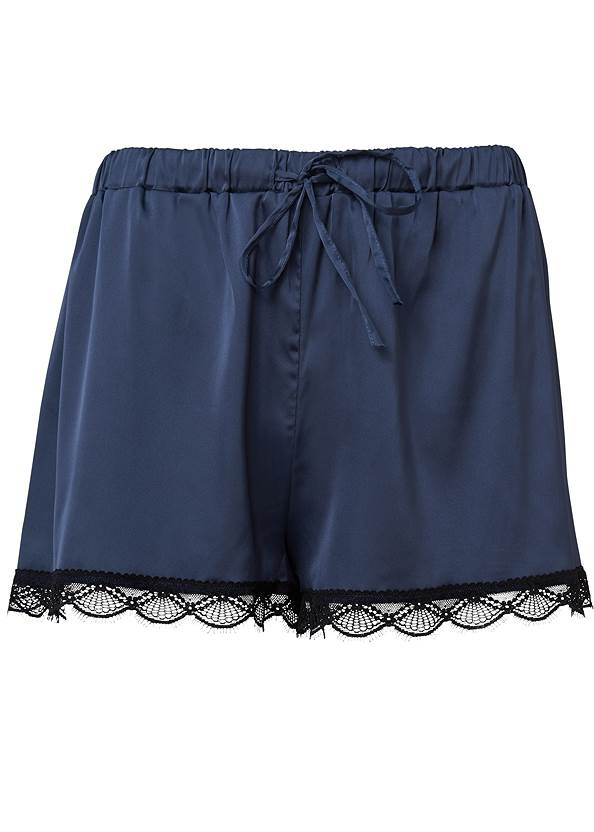 Ghost with background  view Satin Sleep Shorts