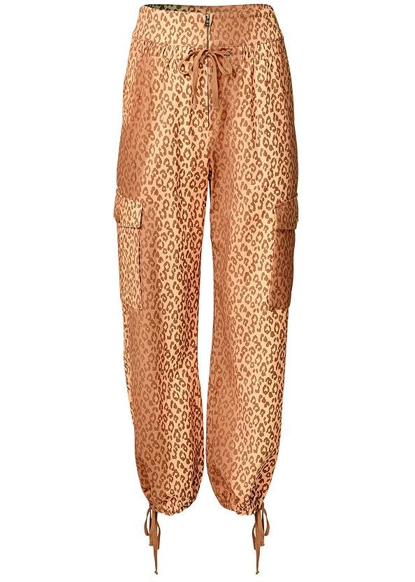 Ghost with background  view Leopard Print Cargo Pants