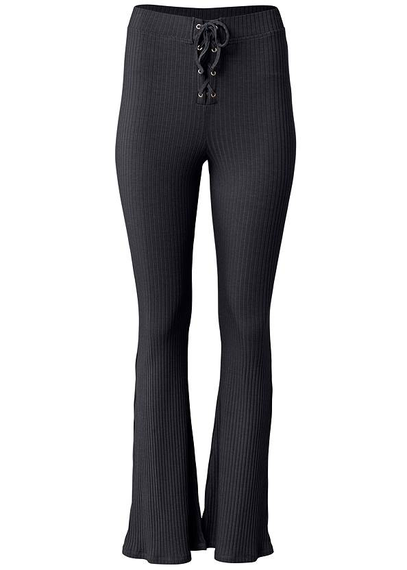 Ghost with background  view Rib Knit Bootcut Pants