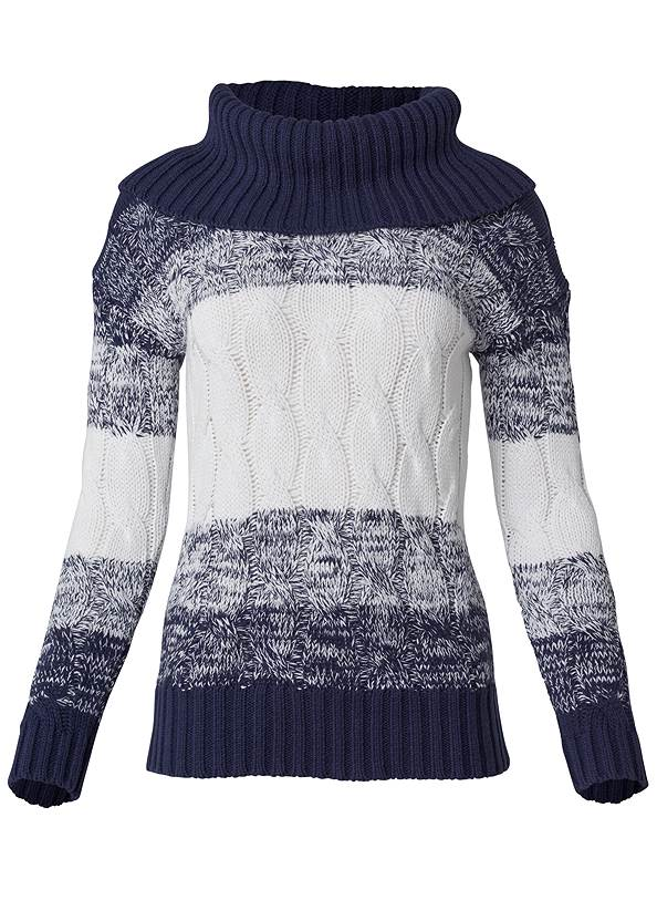 Ghost with background  view Marled Striped Turtleneck