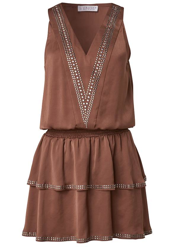 Ghost with background  view Embellished Detail Mini Dress