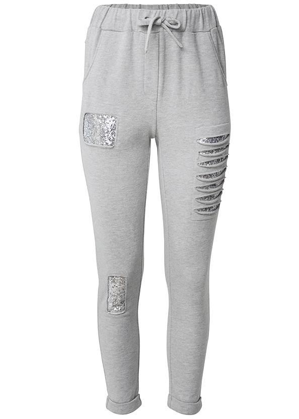 Ghost with background  view Sequin Slash Detail Jogger
