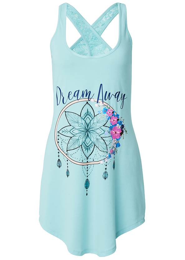 Ghost with background  view Lace Back Sleep Dress