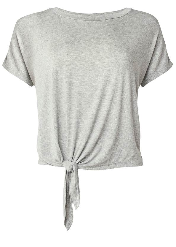 Ghost with background  view Knot Tie Sleep Tee