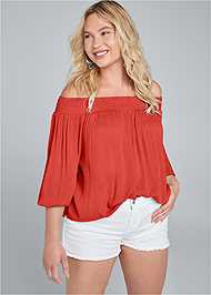 Full Front View Off The Shoulder Top