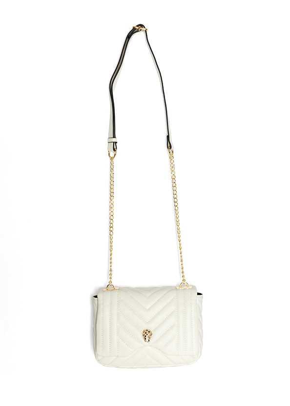 Animal Chain Crossbody Bag,Off The Shoulder Top,Color Block Fashion Skort,Leaf Earring Set