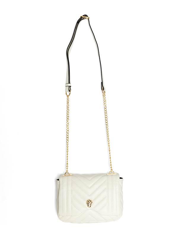 Animal Chain Crossbody Bag,Off The Shoulder Top,Color Block Fashion Skorts