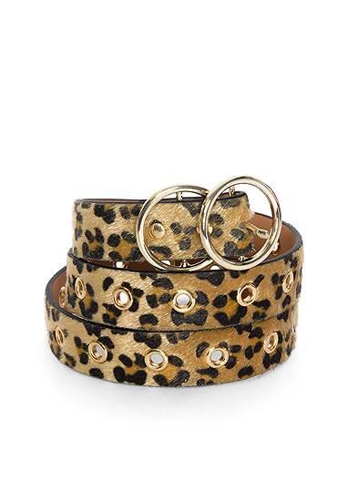 Faux Pony Hair Leopard Belt
