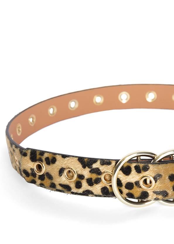 Detail  view Faux Pony Hair Leopard Belt