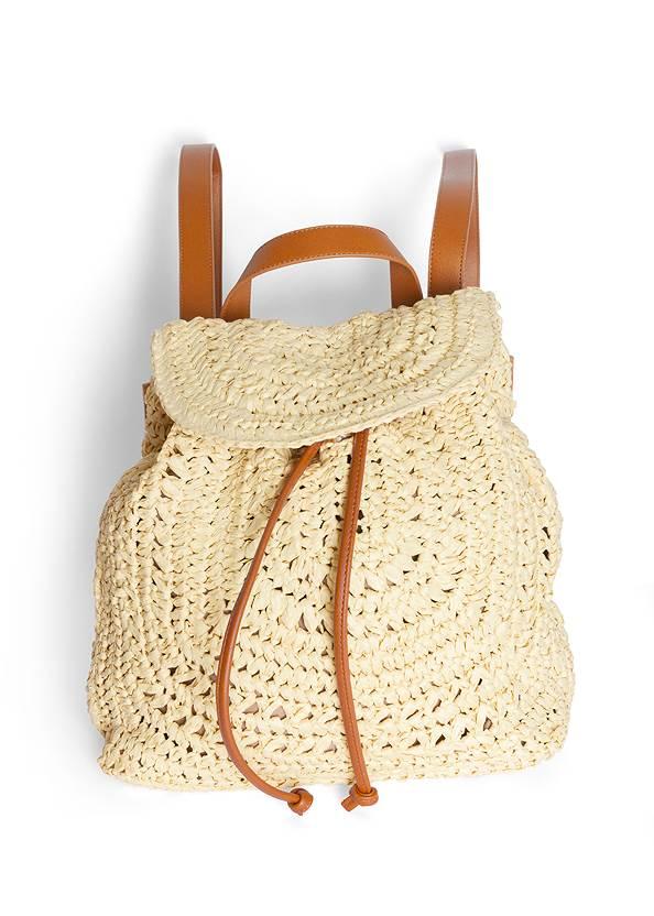 Boho Straw Backpack,Eyelet Cold Shoulder Hoodie,Color Capri Jeans,Comfort Rhinestone Sandals