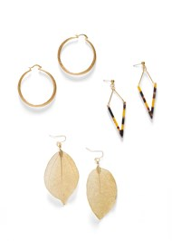 Front View Leaf Earring Set