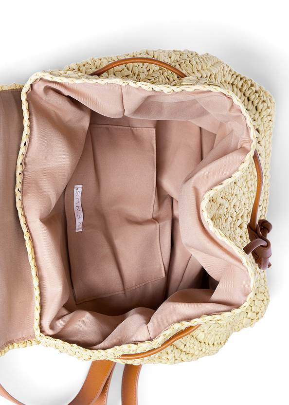 Alternate View Boho Straw Backpack
