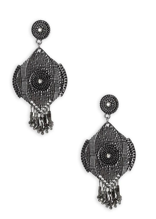 Beaded Fringe Medallion Ear,Printed Halter Tie Dress,Rhinestone Thong Sandal,Essential Espadrille Wedges