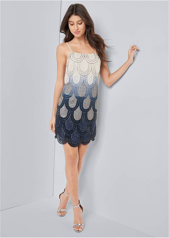 Full front view Embellished Mini Dress