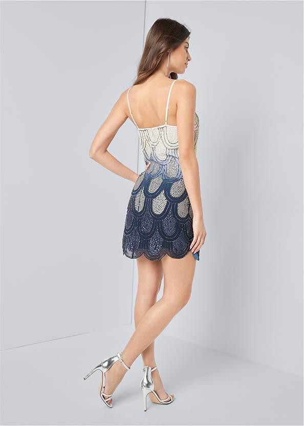 Full back view Embellished Mini Dress