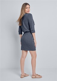 Full back view Zipper Detail Lounge Dress