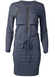 Ghost with background  view Zipper Detail Lounge Dress