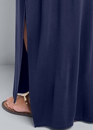 Alternate View Tie Front V-Neck Maxi Dress