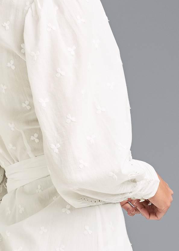 Alternate View Eyelet Wrap Mini Dress