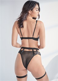 Cropped back view Strappy Bra And Panty Set