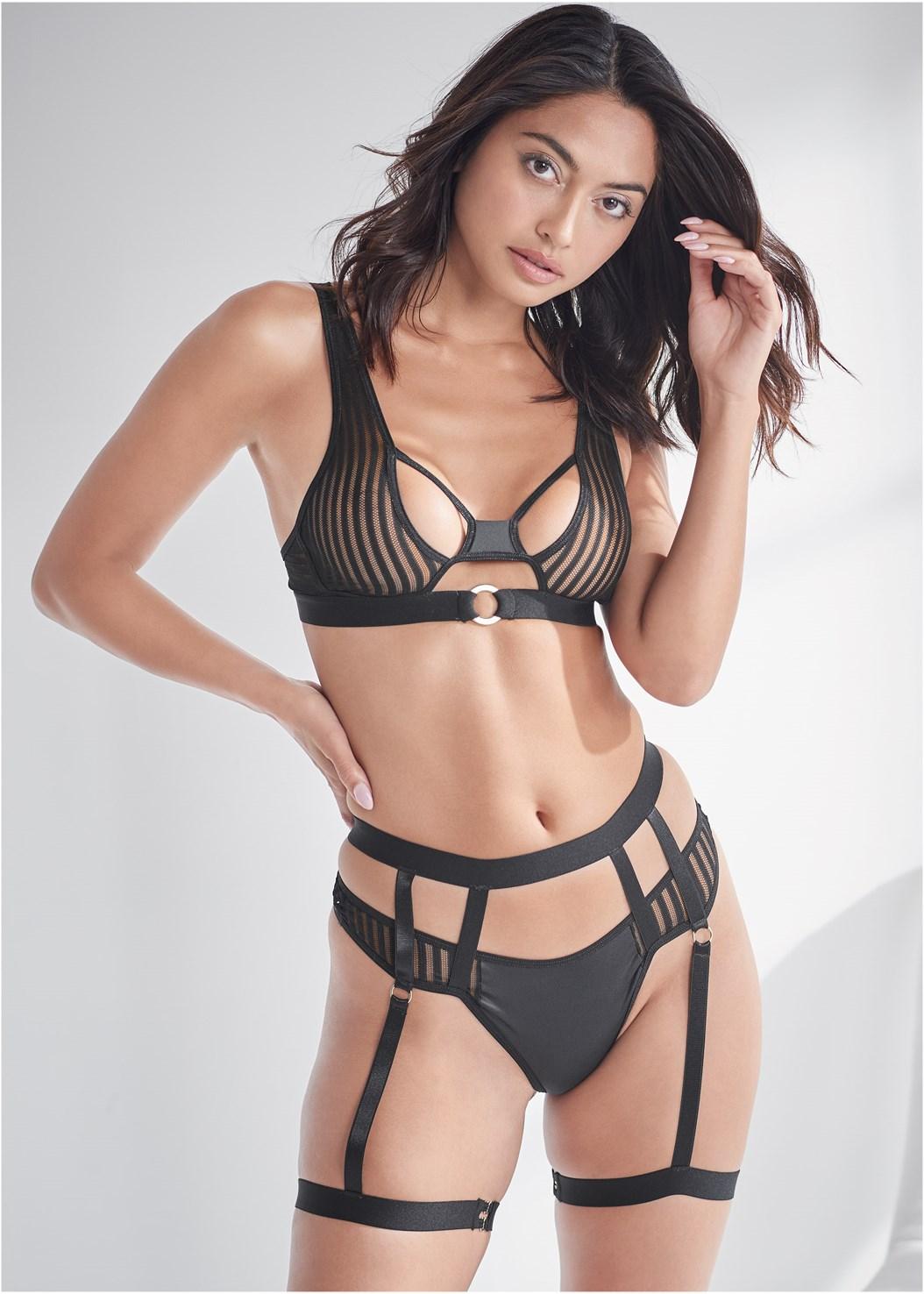 Strappy Bra And Panty Set