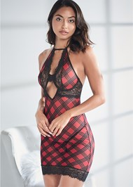 Cropped front view Wired Plaid Chemise